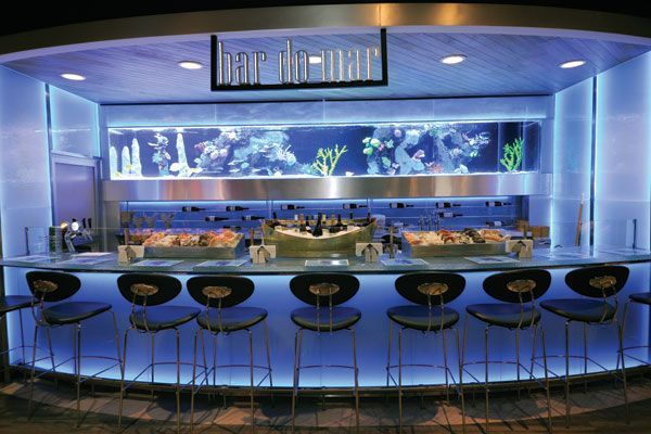 MODERN RESTAURANT INTERIOR DESIGN WITH LIVE SEAFOOD DISPLAY TANK   Google  Search