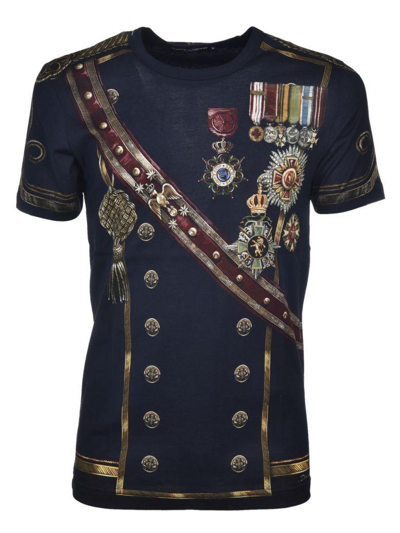 2d62585a7df DOLCE   GABBANA Dolce   Gabbana Military Print T-shirt.  dolcegabbana   cloth