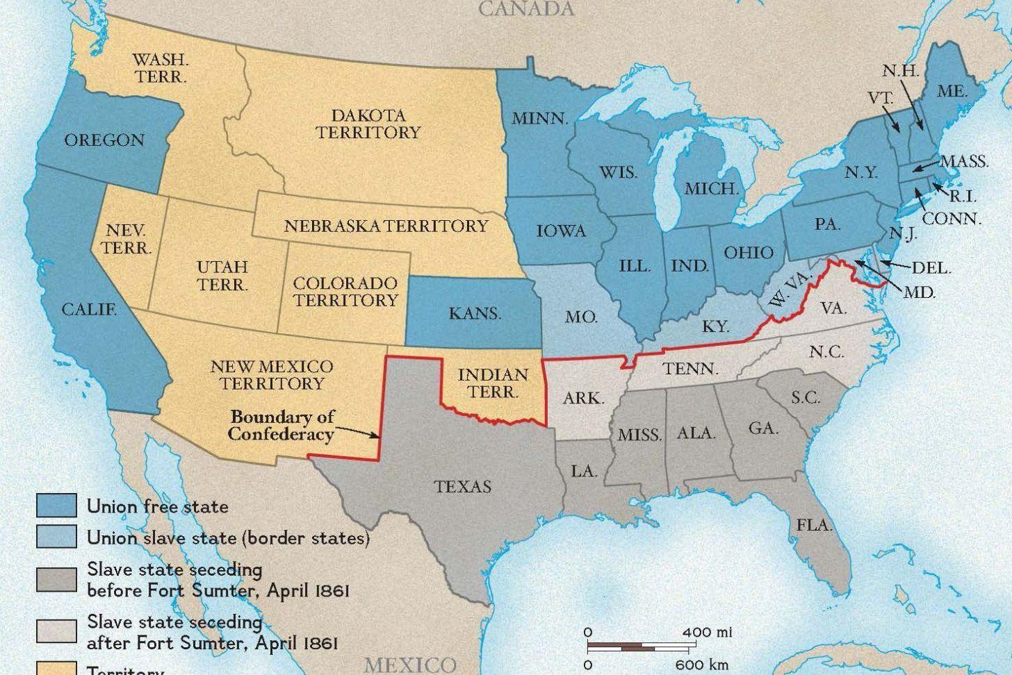 Civil War Map United States Nationalgeographic