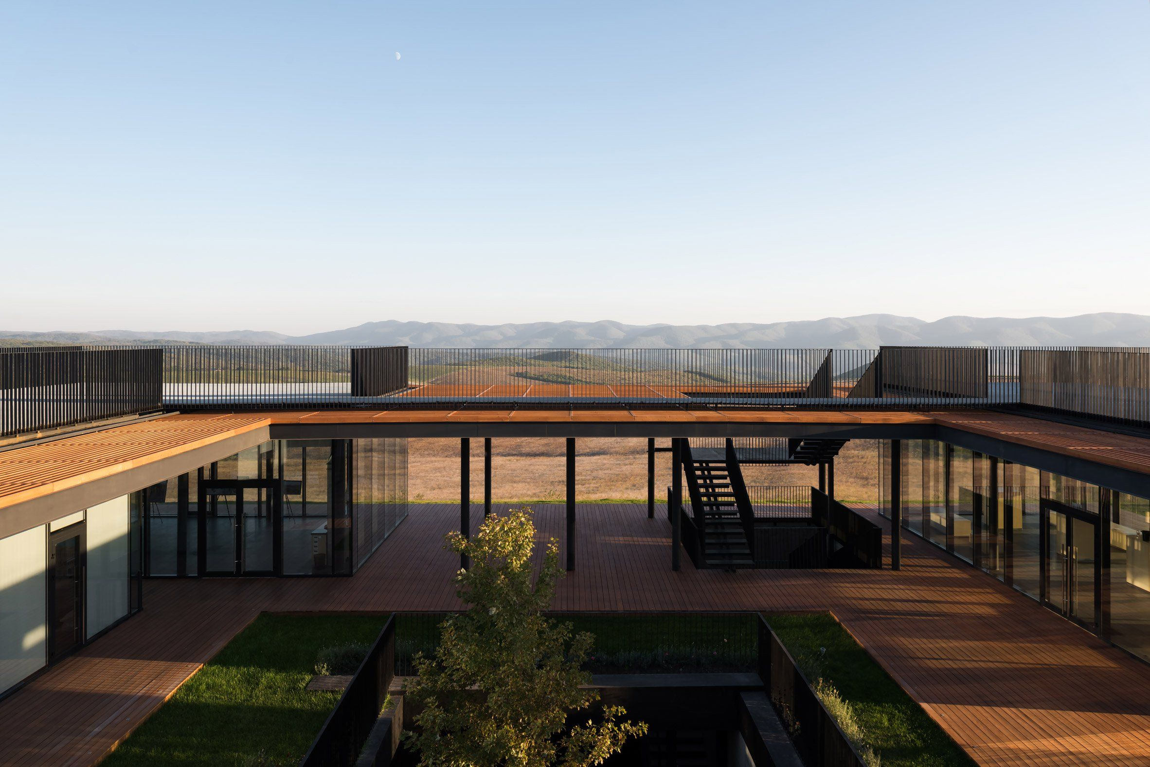 Gai Kodzor Winery Is A Concrete And Glass Building Perched On A Hilltop In  Russia