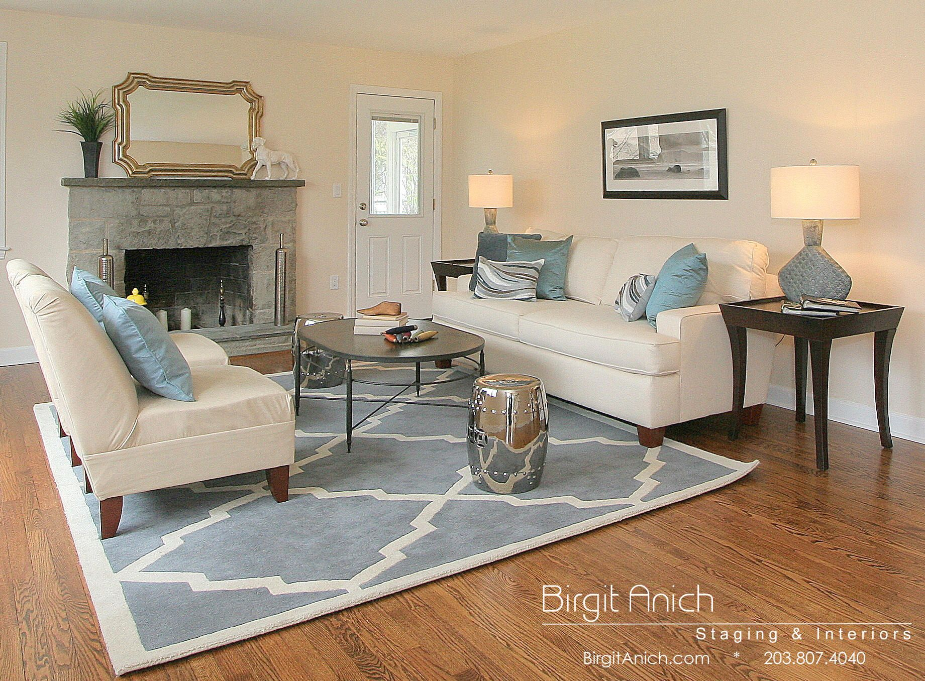 transitional living rooms - Home Staged Designs