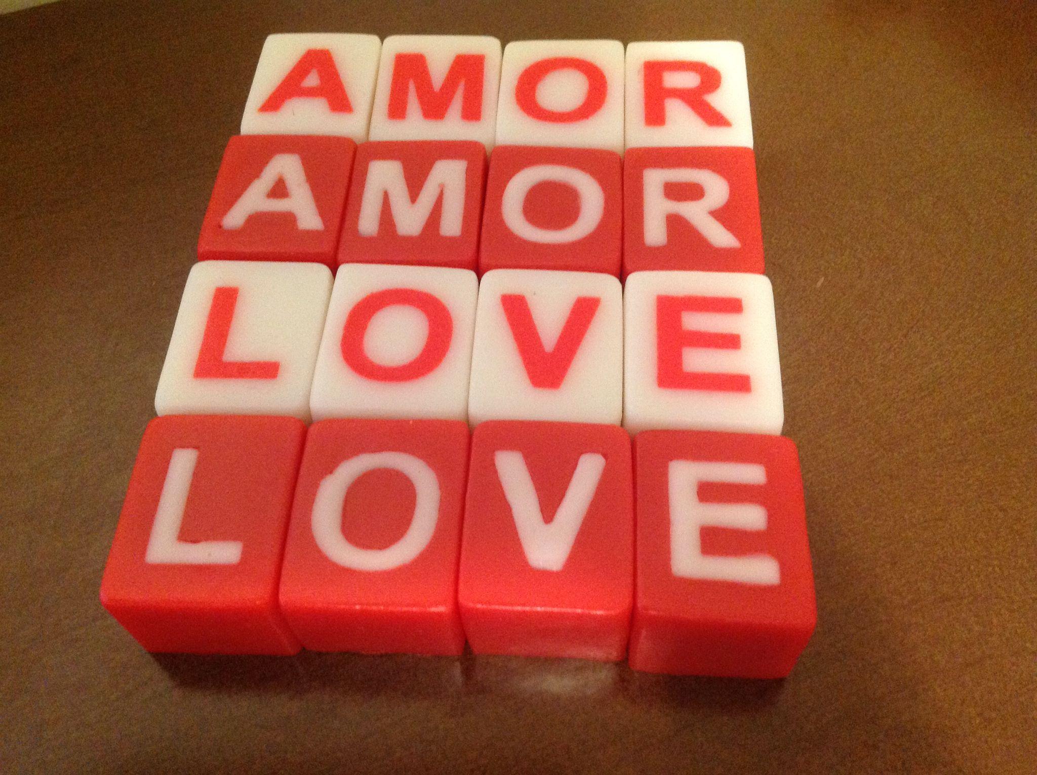Sabonete cubos letras ( iniciais ou nomes)