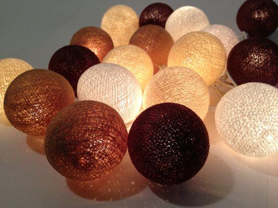 20 Dark Brown BrownBeigeWhite Colour Cotton Ball by Pattrawan, $12.99