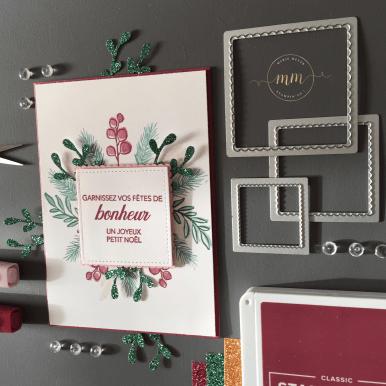 Carte de voeux Noël paisible