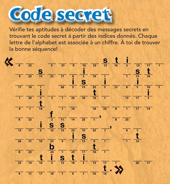 Code secret homeschooling pinterest code secret fandeluxe Choice Image