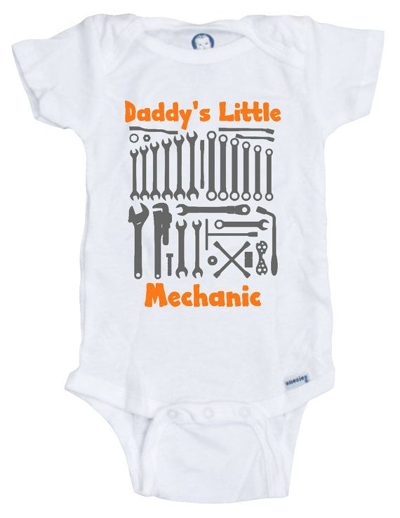 60ca6b968 Daddy s Little Mechanic Baby Onesie Mechanic Daddy