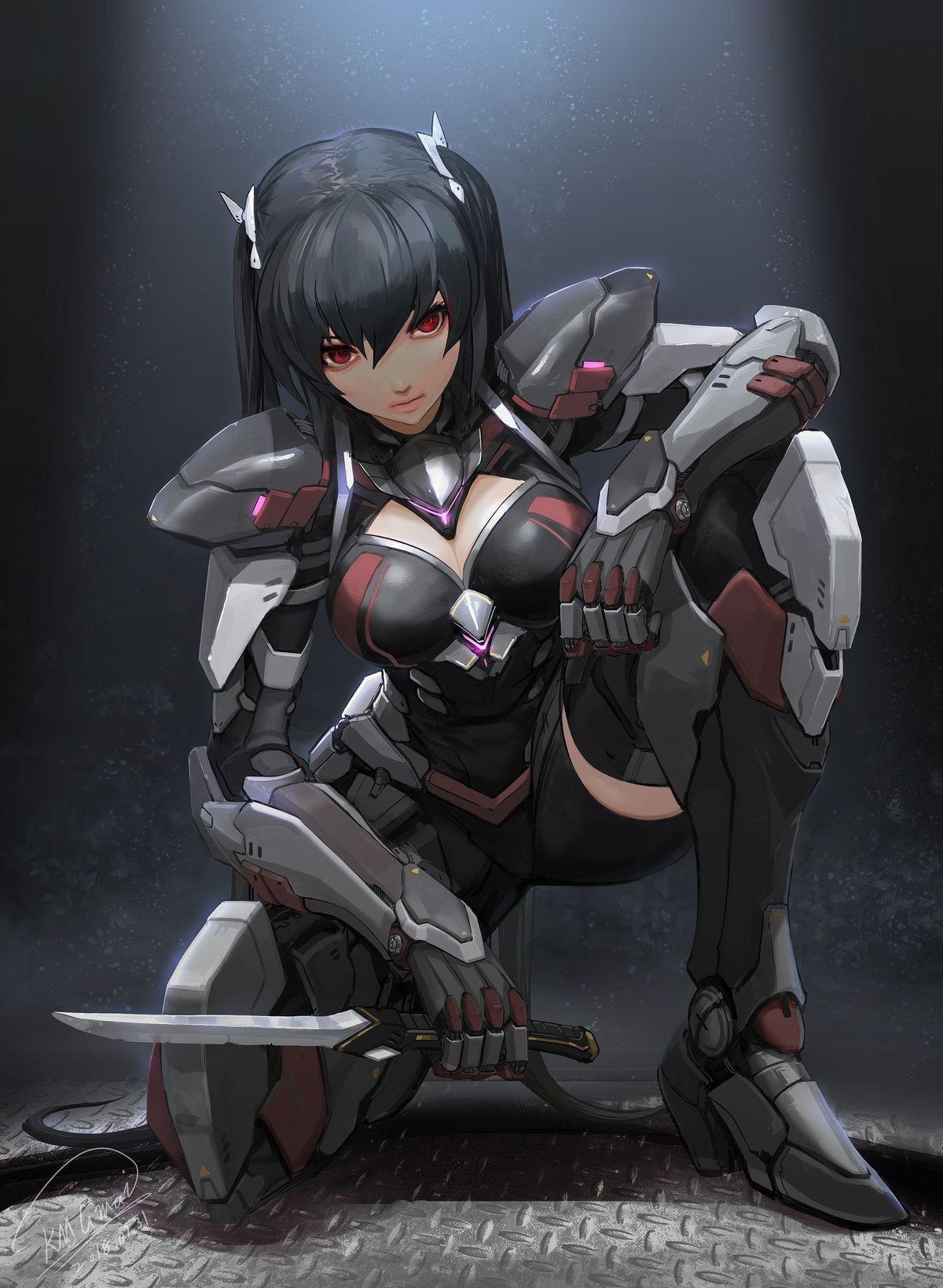 Anime Fanart Collection Hd Vol Xiv Mecha Mecha Girls Album On Imgur Cyberpunk Art Character Art Cyborg Anime