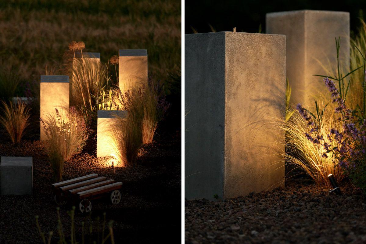 Garten Die Neue Feuerstelle Und Lichtkonzept Im Garten Mxliving Feuerstelle Garten Kleinen Raumgartnerei Licht Im Garten