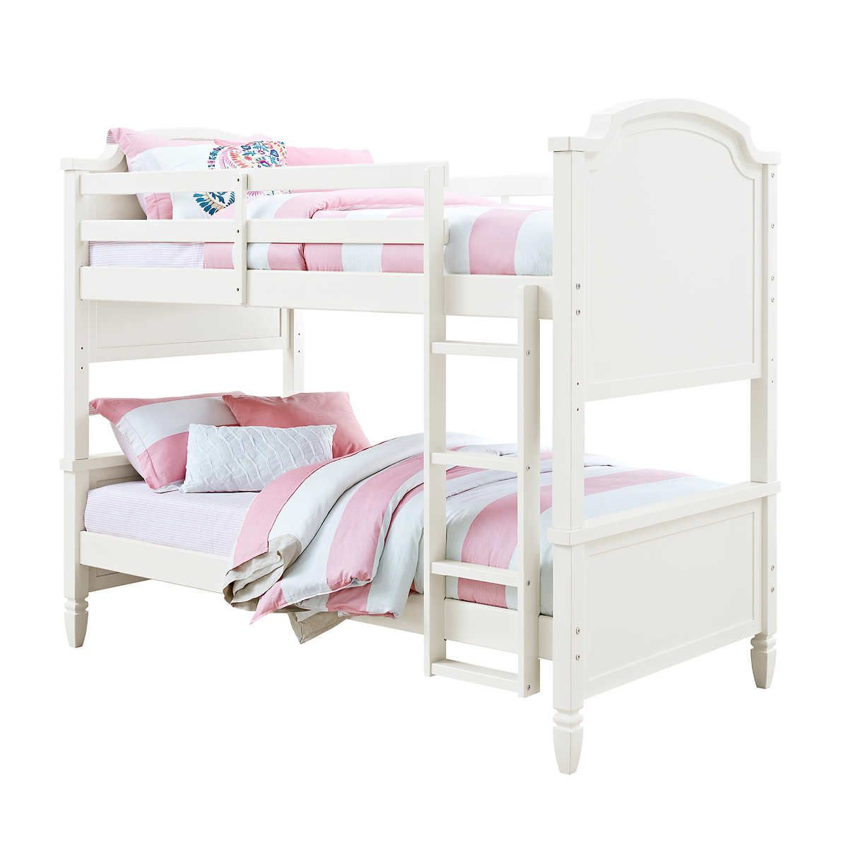 Charlie Twin Over Twin Bunk Bed White White Bunk Beds Twin