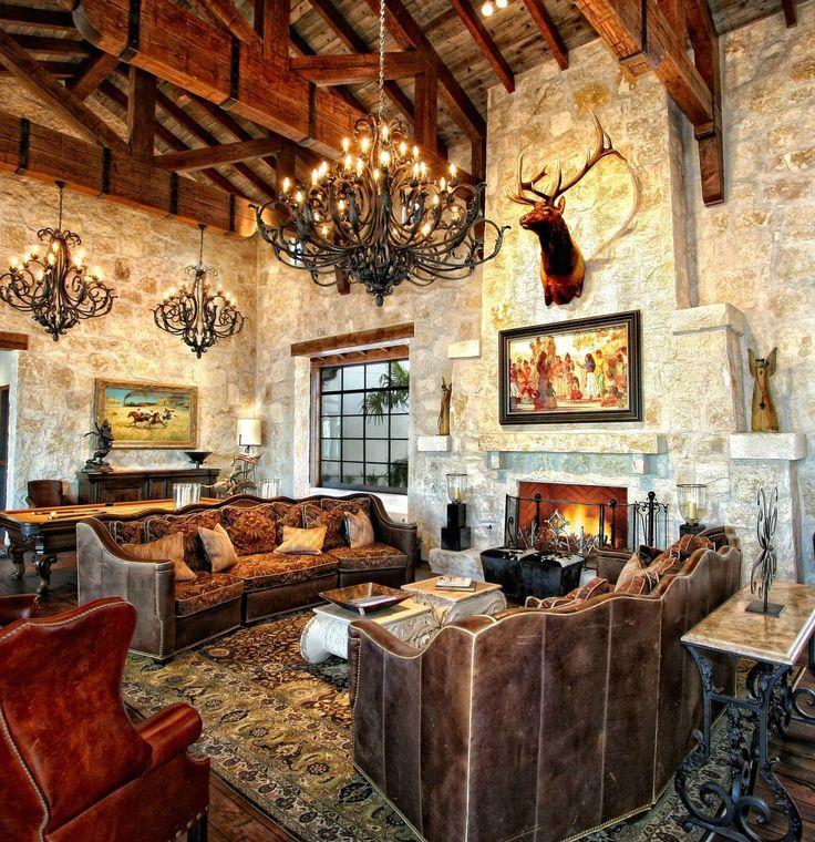 46 Stunning Rustic Living Room Design Ideas: 34 Stunning Tuscan Interior Designs