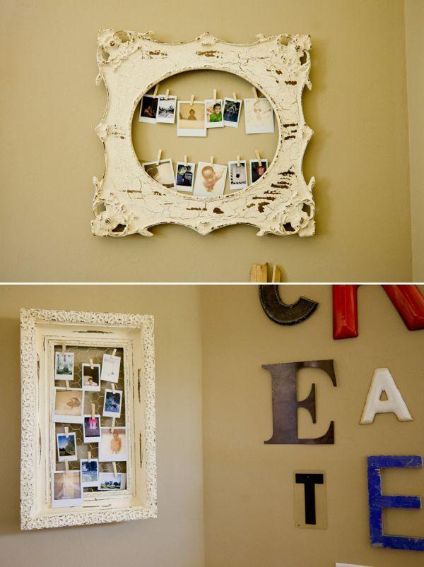 Alternative & Stylish Ways To Display Photos | Display, Chicken wire ...