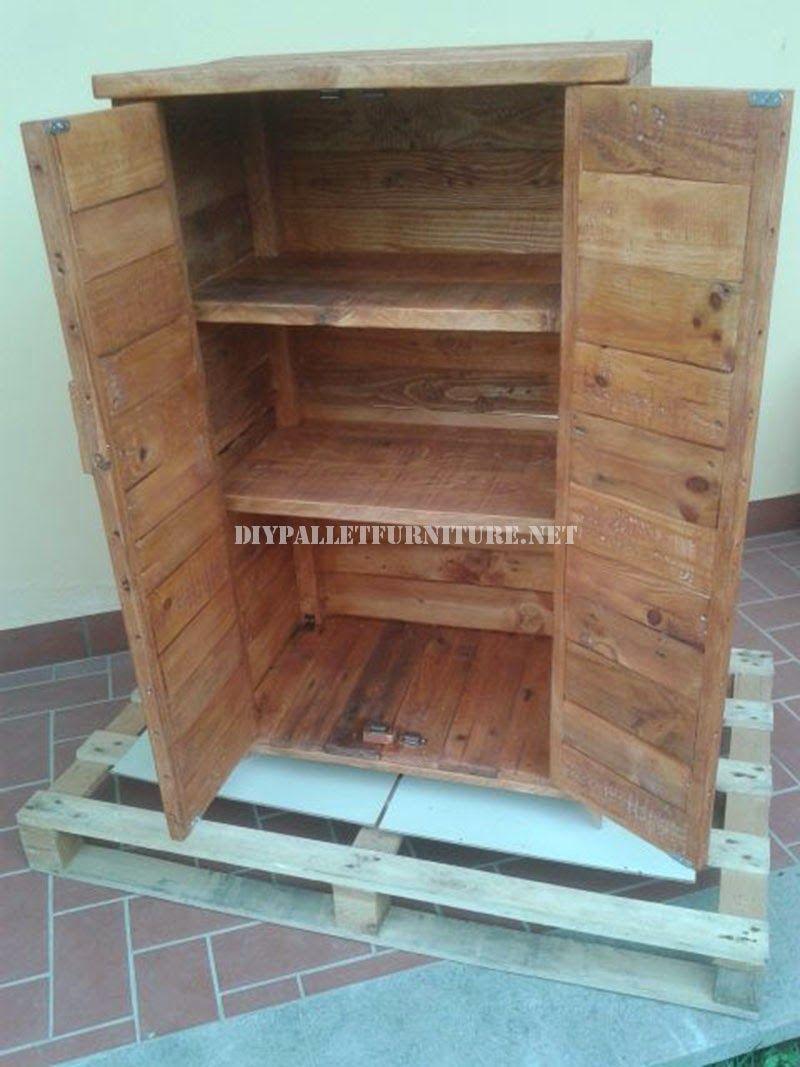 M s de 60 ejemplos de muebles hechos con palets Armarios hechos con palets