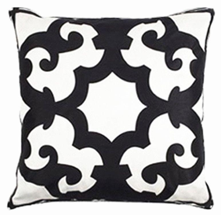 New-Modern-Boho-Flower-Black-White-Printed-Decorative-Pillow-Case-Fashion-Art-Cushion-Cover-Throw-Sham.jpg (772×751)