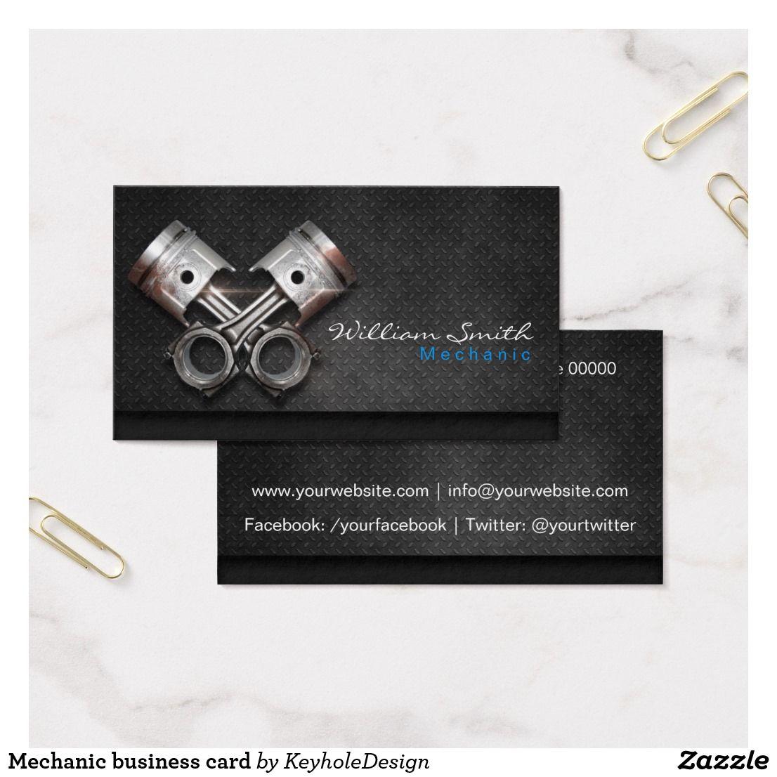 Mechanic business card | Office Supplies | Pinterest | Business cards