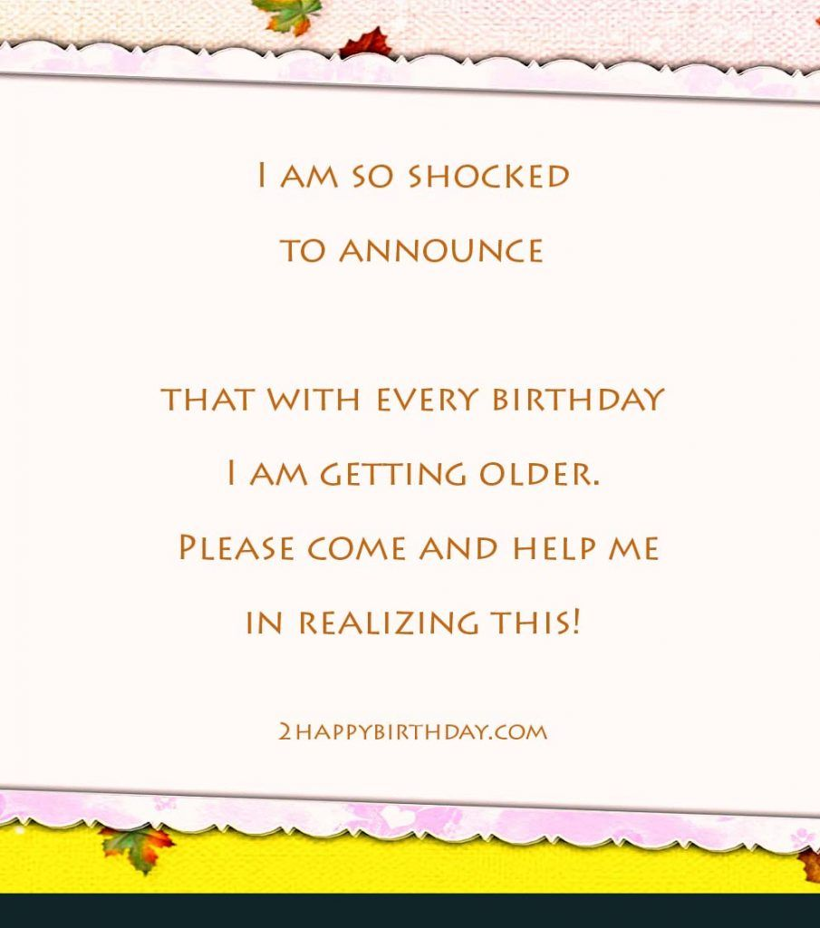 Funny Birthday Quotes Invitation Quotesgram