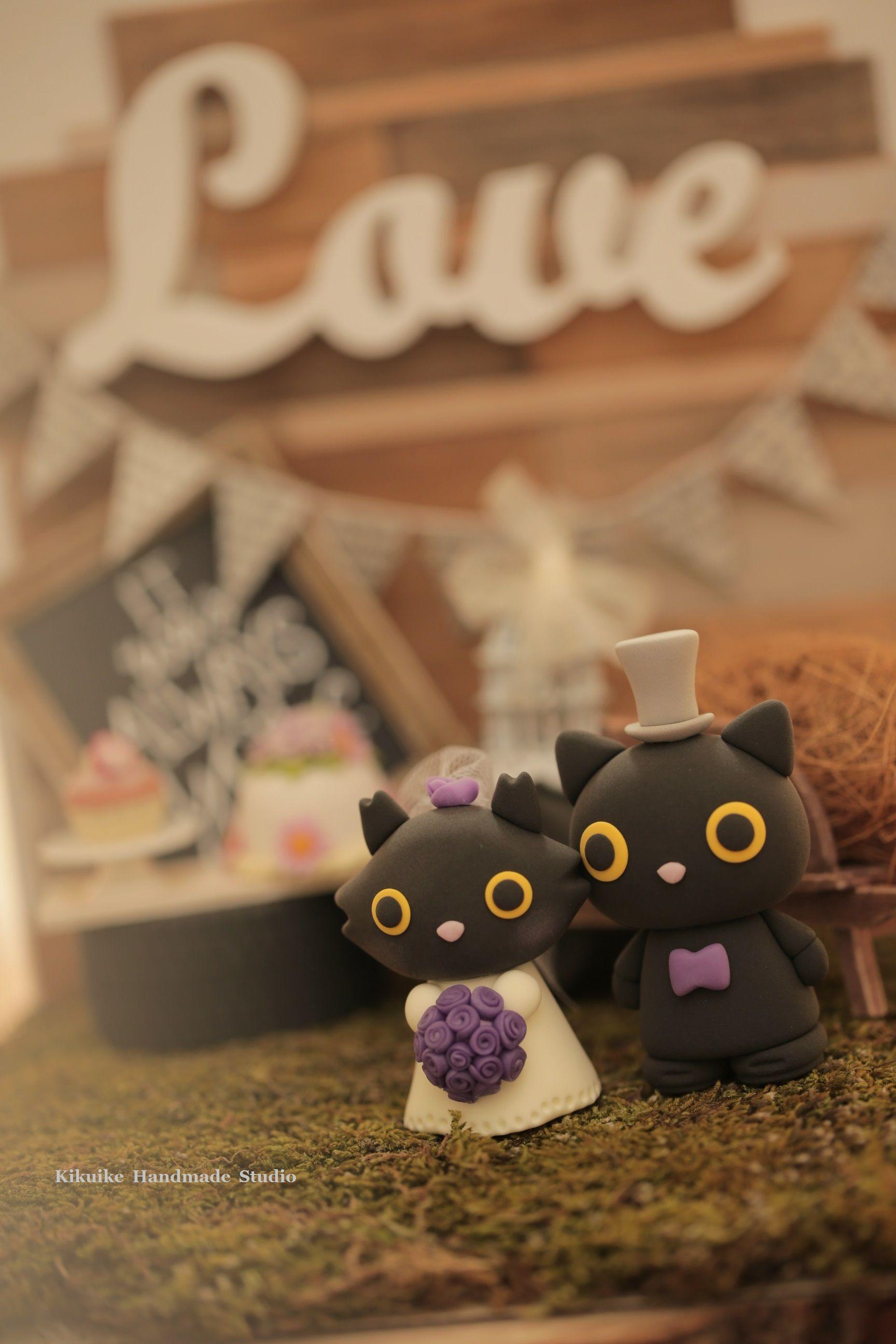 cat and kitty Wedding Cake Topperk851 Wedding cake