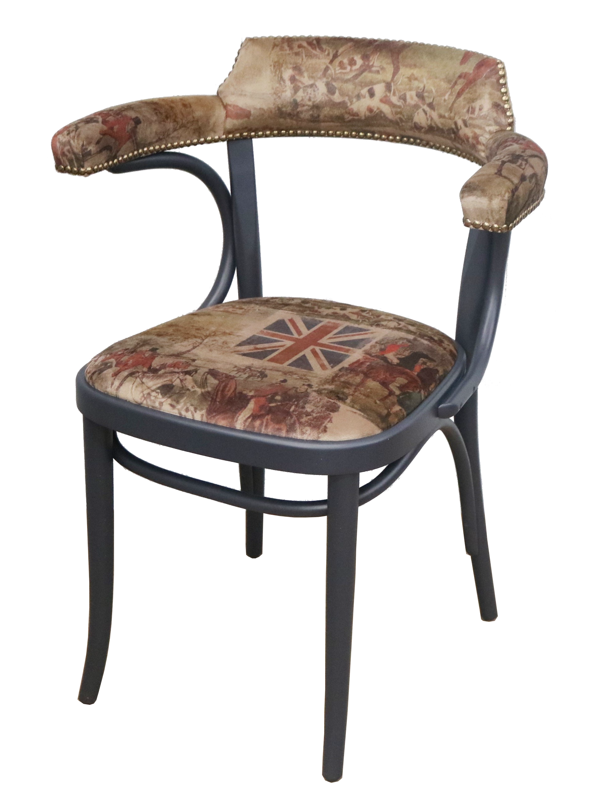 Number 25 Open Back Dining Chair Fully Upholstered ...