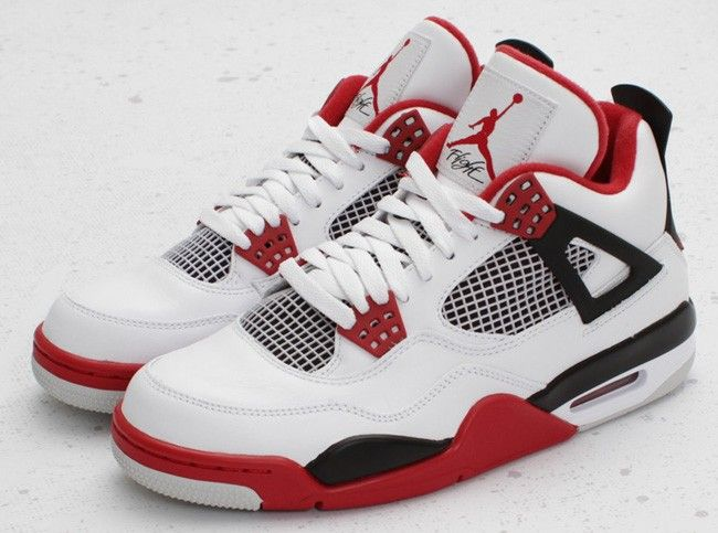 Air jordan fire red 4s via Sneakersunlimited. Click on the image to see  more!