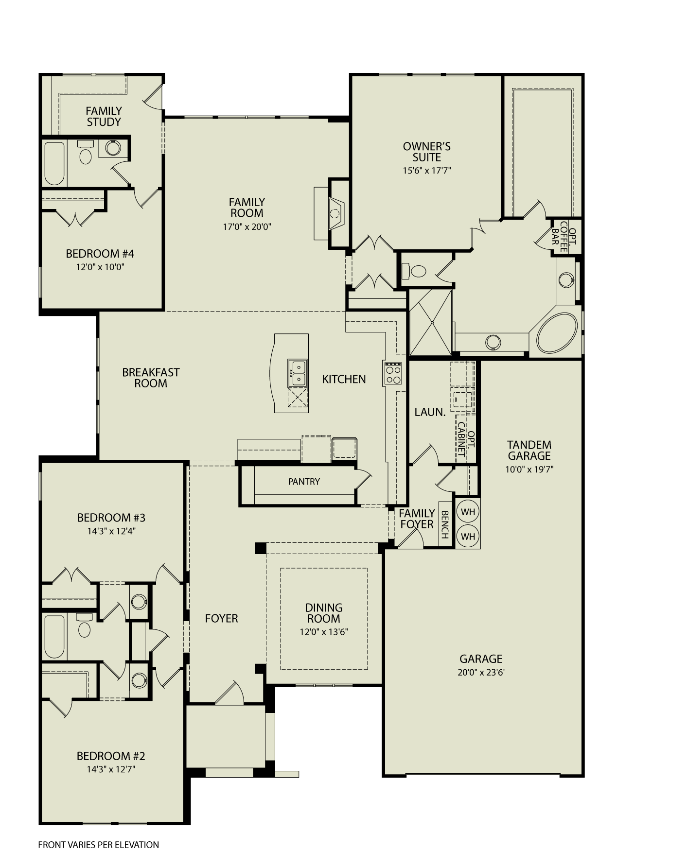 Taylor Ii 125 Drees Homes Interactive Floor Plans Custom Homes Without The Custom Price New House Plans House Plans Floor Plans