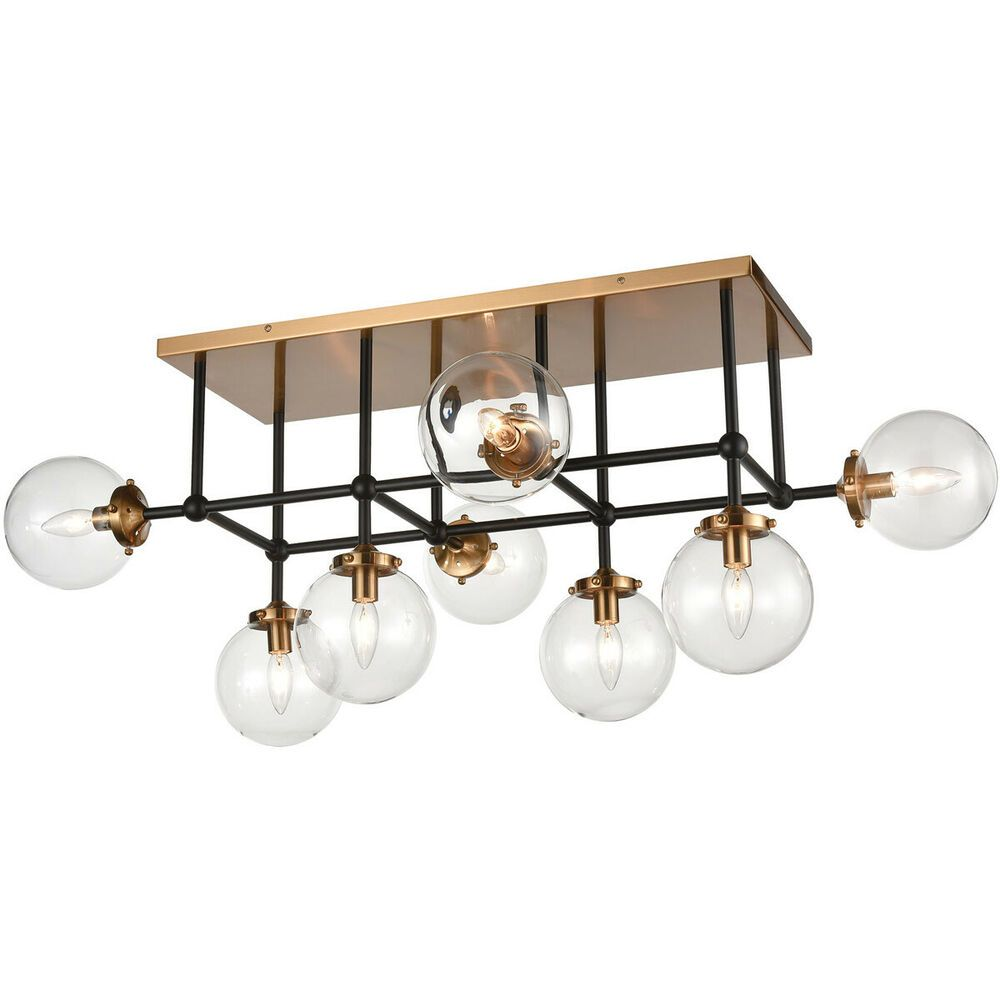 Black And Gold Ceiling Fan Ebay Sponsored Elk Lighting 15437 8 Boudreaux Semi Flush Mount