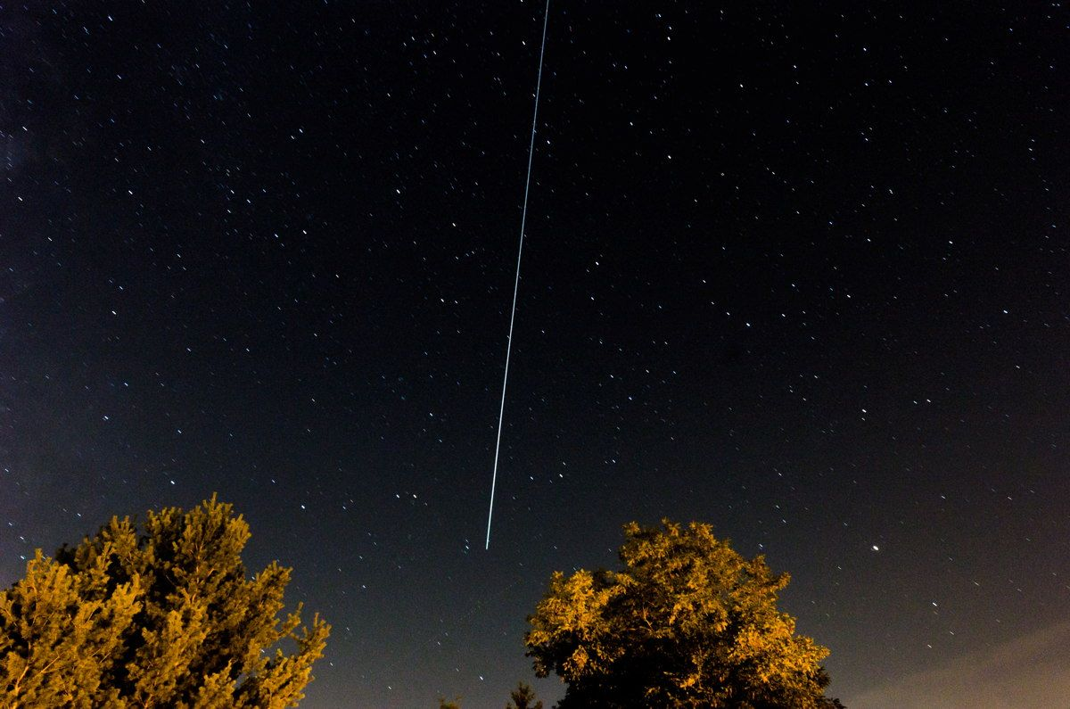 Skywatcher Ryan Taylor of Biglerville, PA, sent in this photo of a Perseid meteor taken August 11, 2013.