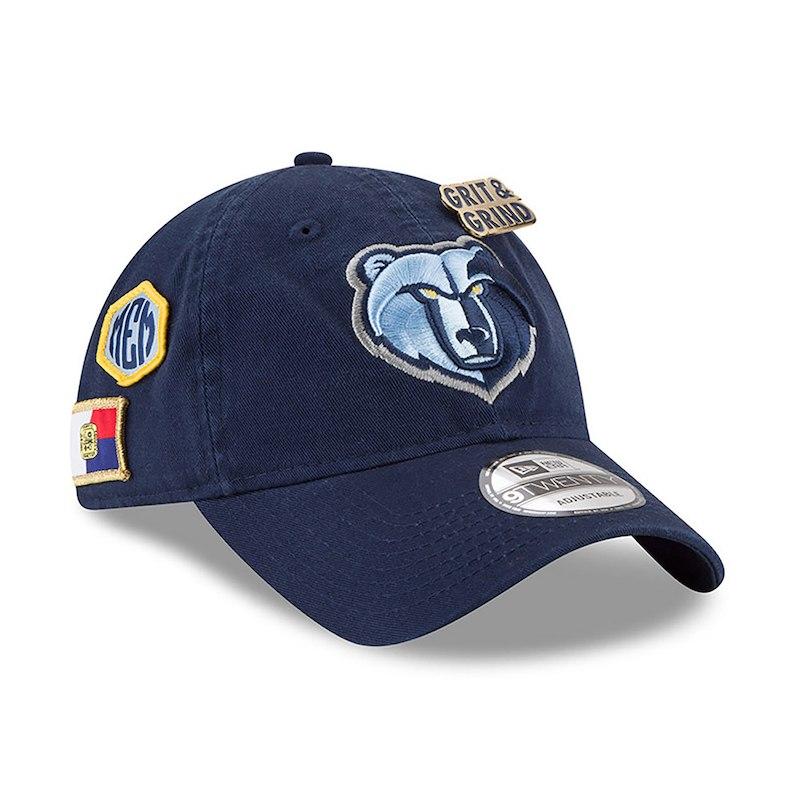 893422dd357fba Memphis Grizzlies New Era 2018 Draft 9TWENTY Adjustable Hat – Navy ...