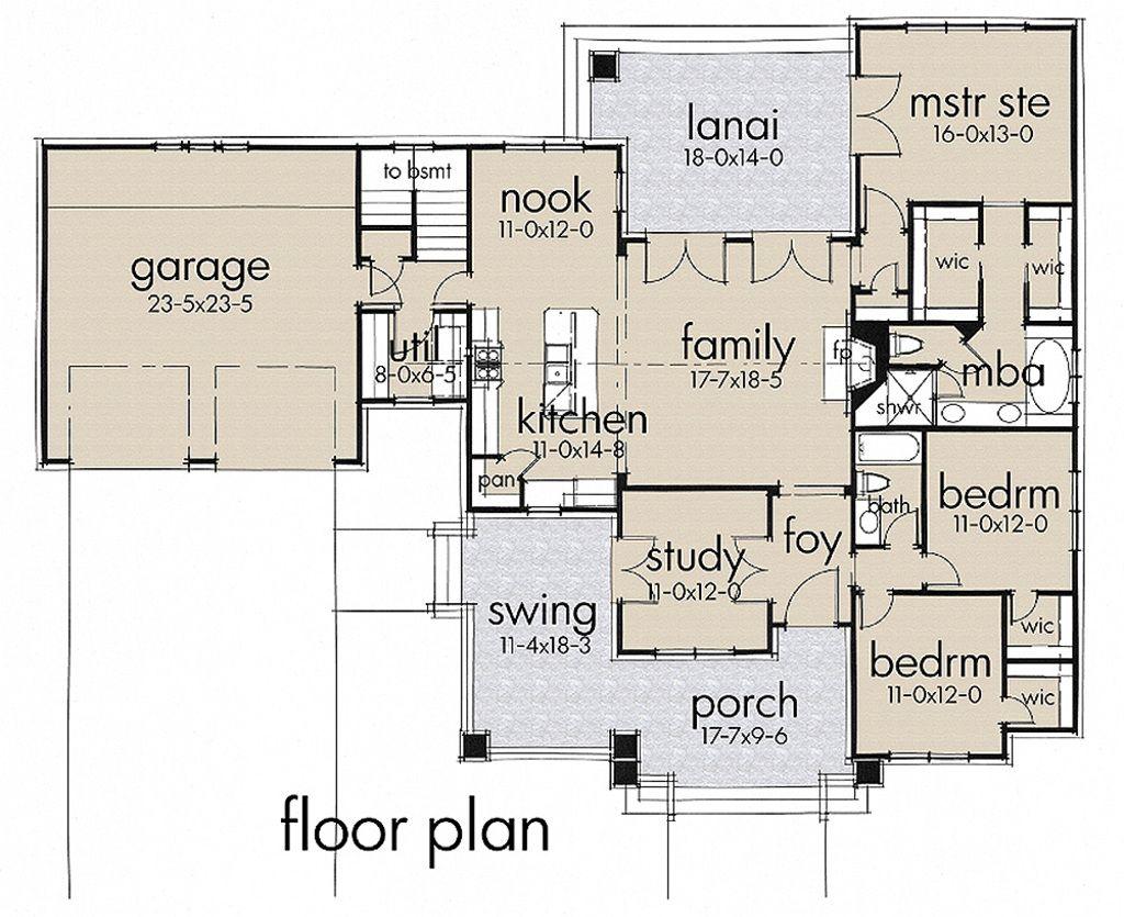 Craftsman Style House Plan - 3 Beds 2.00 Baths 1879 Sq/Ft Plan #120 ...