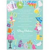 iconic around the clock icons invitation invitations bridal shower