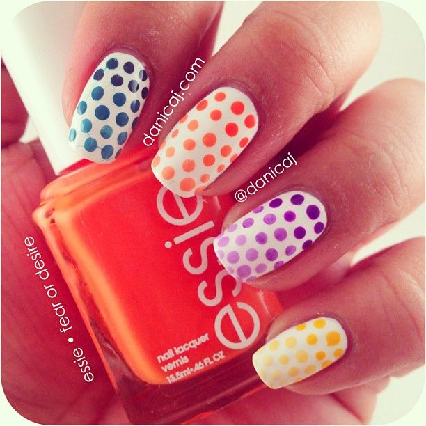 Neon polka dot nails nails laval ongles laval polka dot neon polka dot nails nails laval ongles laval sciox Images