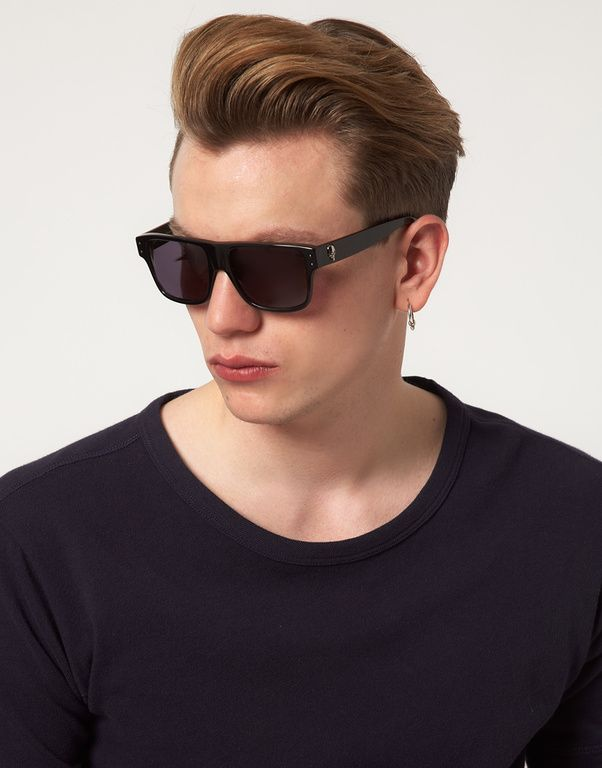 033f1009a8 Alexander Mcqueen Alexander Mcqueen Skull Wayfarer Sunglasses in Black for  Men