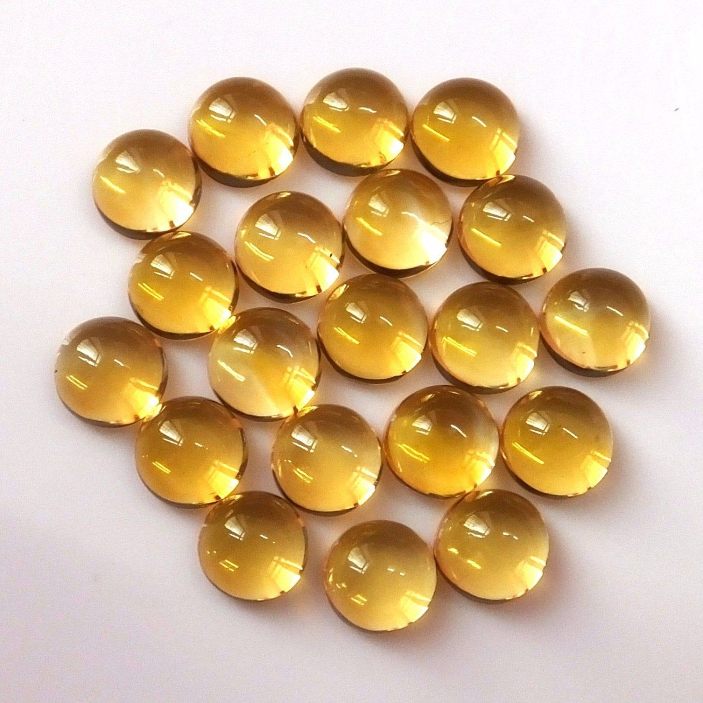 10 pieces citrine  square cabochon gemstone natural gemstone calibrated size