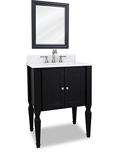 Elements VAN049-T-MW Jensen Collection 28 Inch Single Sink Bathroom