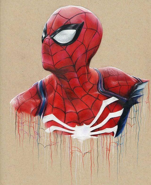 Spider-Man game PS4 | Spiderman, Dessin crayon de couleur ...