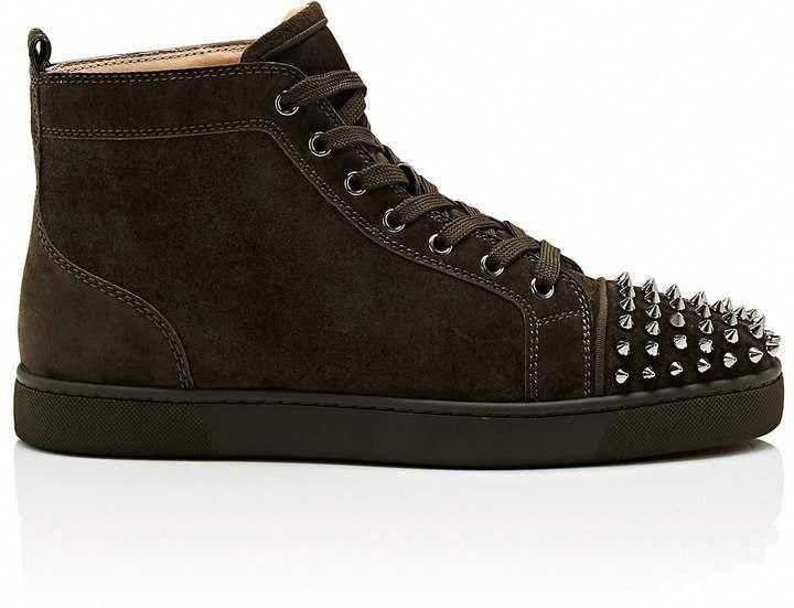 4f2267d7ff9 Christian Louboutin Men s Lou Spikes Flat Suede Sneakers  ChristianLouboutin