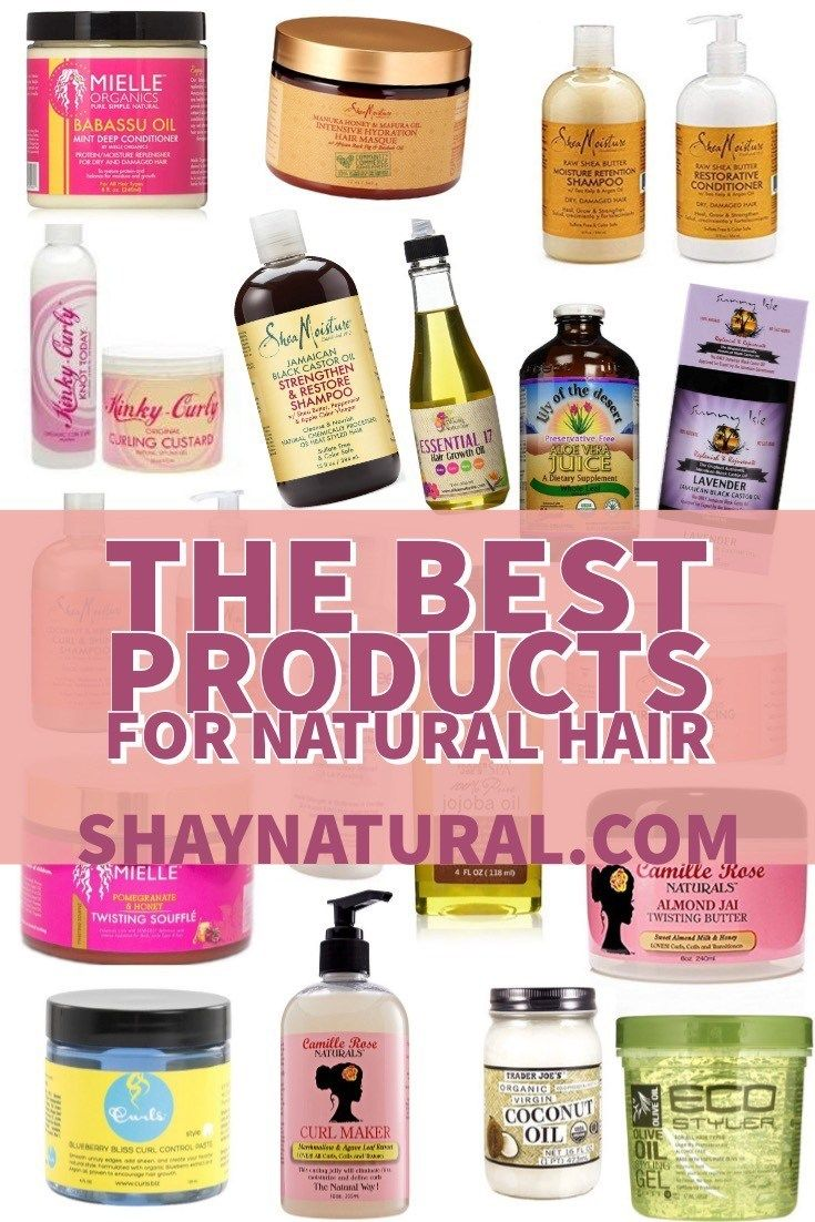 The Best Products for Natural Hair #naturalhaircareproducts