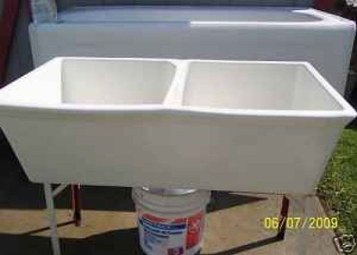 Porcelain Utility Sink Double Bowl   $125 (Binghamton)