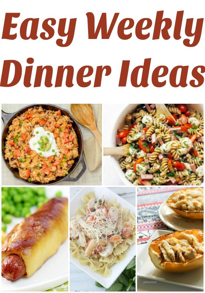 Easy Weekly Dinner Ideas She Gives A Free Meal Plan Every Monday Weeknight For Busy Inspiration