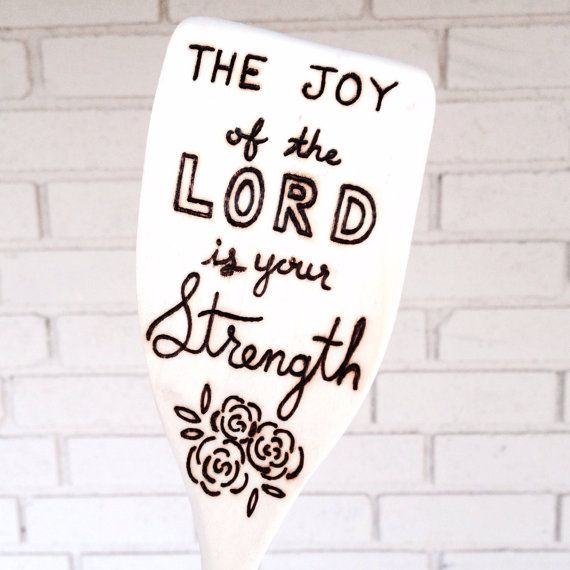 Joy Scripture Wooden Spoons Mothers Day Gift Christian