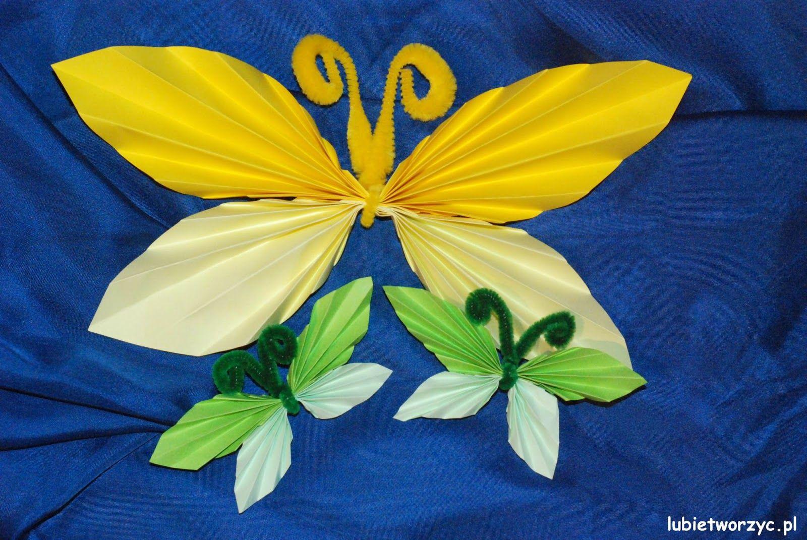 Lubie Tworzyc Harmonijkowy Motylek Crafts For Kids School Crafts Crafts