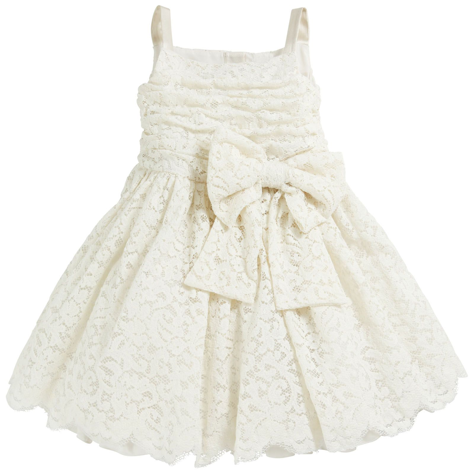Beautiful dress made of lace and silk Silky lining Dolce and