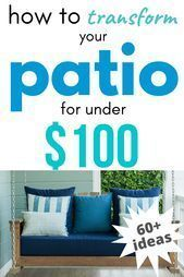 How to redesign your patio for under $ 100 on a budget! Fri ..., # ... -  How to redesign your patio for under $ 100 on a budget! Fri …,  #Budget #a #For #shape #Their   - #Budget #firepitideas #fri #Patio #Pregnancygoals #redesign