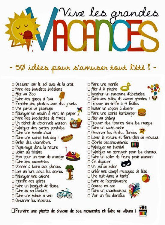Quelques Ressources A Propos Des Vacances D Ete Apprendre Le Francais Activites Familiales Education Familiale