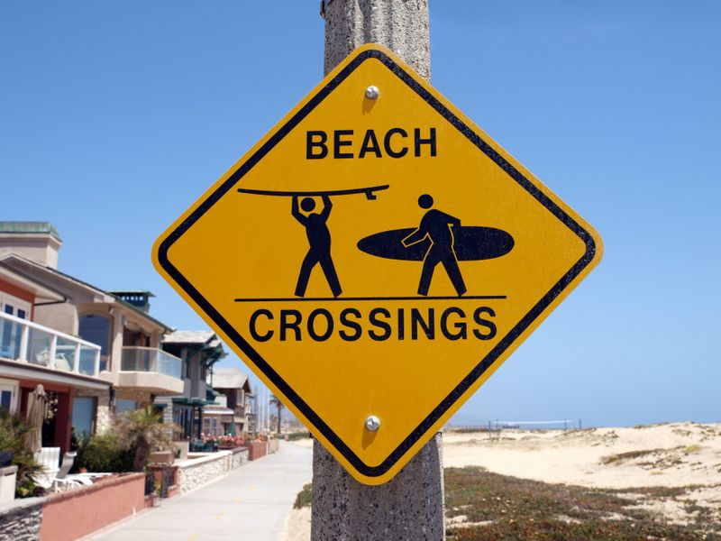 This is not a very unusual sign for a beach in Los Angeles.  We have to protect our surfer species.  Signs like this always amuse our Elite Adventure Tours guests and on a private Los Angeles tour we can always stop and photograph the unusual signs we see.