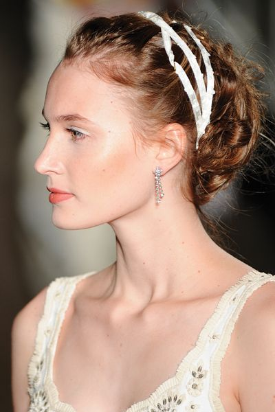 Wrap your loose braided updo for a romantic Juliet-inspired style.