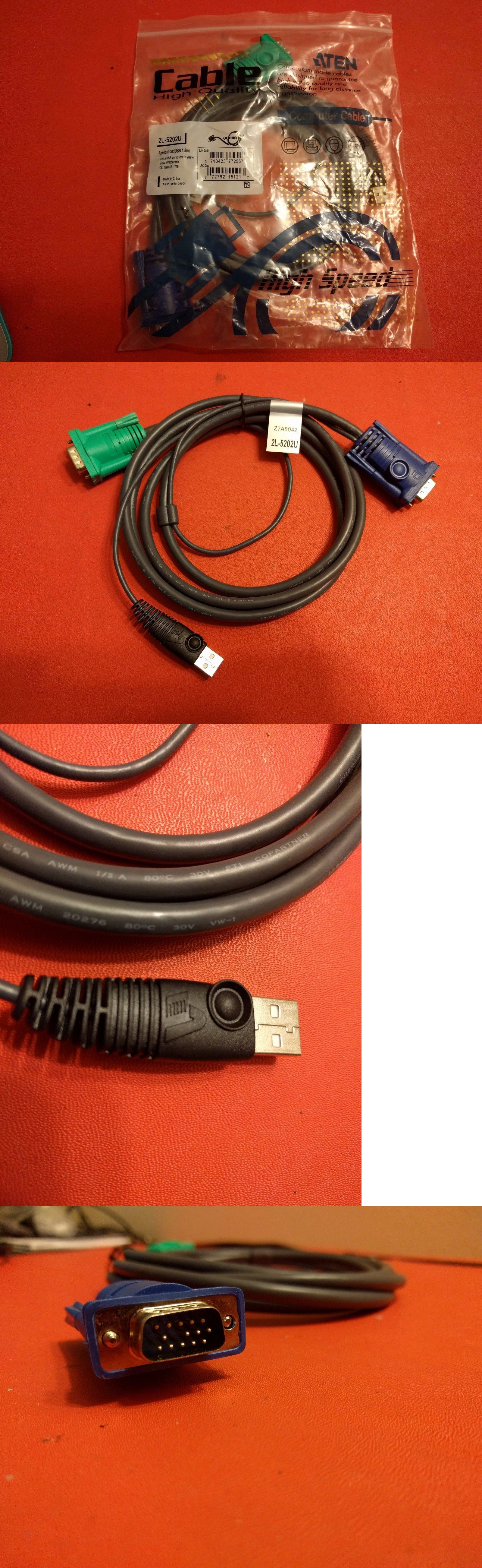 Details About Aten 6 2l 5202u Usb Vga Kvm Cable Cs 1708 Cs 1716 Retail Pack Ebay Usb Stuff To Buy