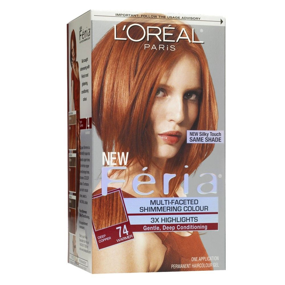 L Oreal Paris Feria Multi Faceted Shimmering Color Red Hair Dye