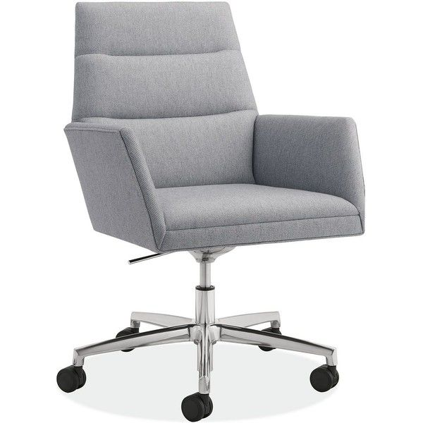 Tenley Office Chair 6 680 Sek Liked On Polyvore Featuring