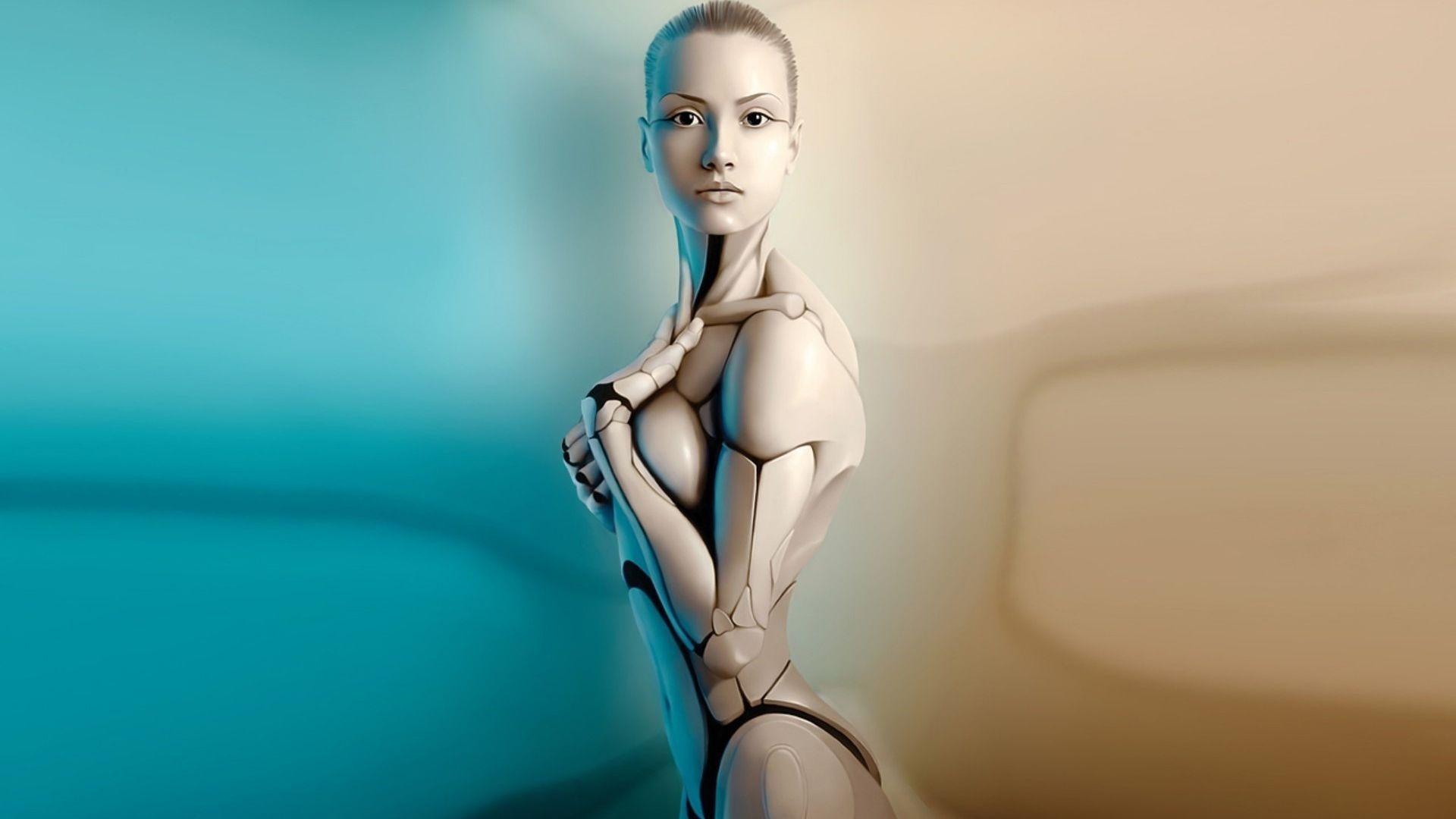 Nude Female Replicant, Artificial Intelligence Art