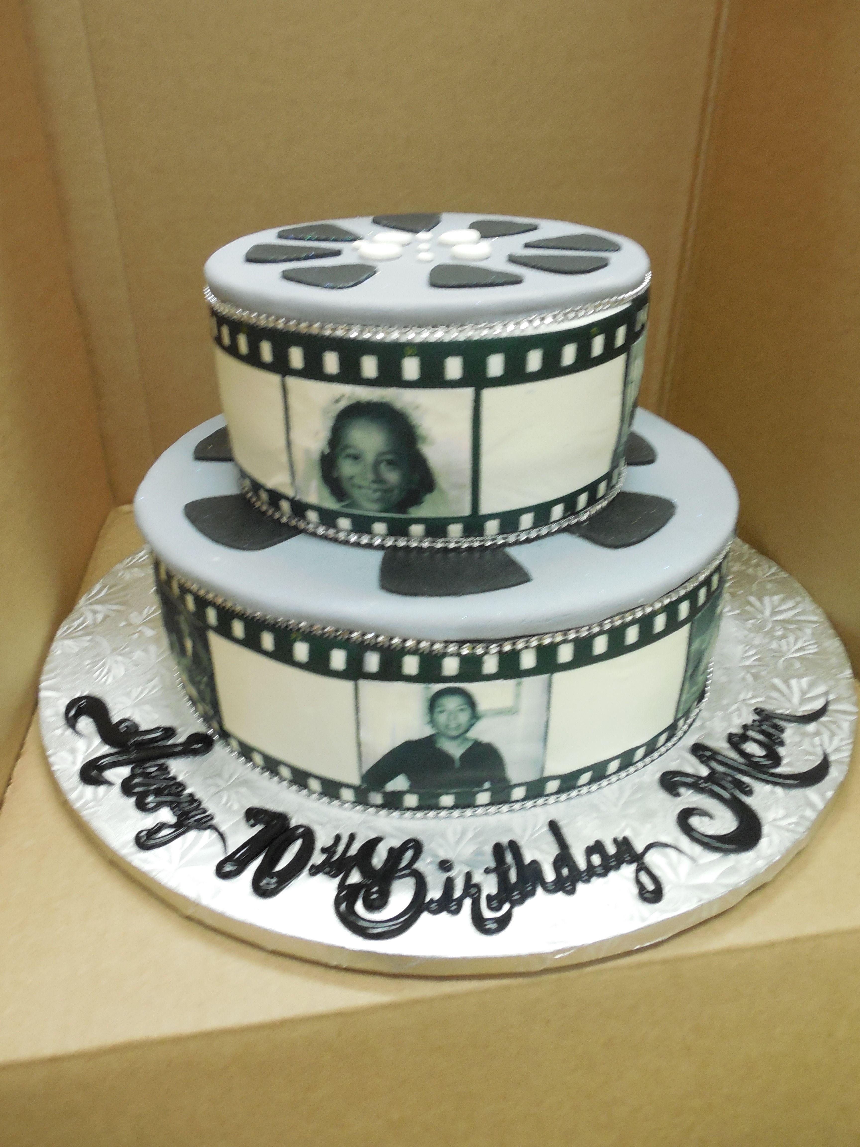 Remarkable Calumet Bakery Movie Reel Birthday Cake With Images Photo Cake Personalised Birthday Cards Epsylily Jamesorg