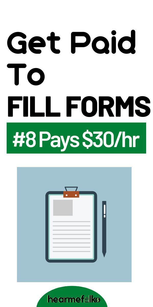 15 Free Form Filling Jobs: Make Over $100/hr   Hea